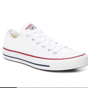 Converse low top white sneakers